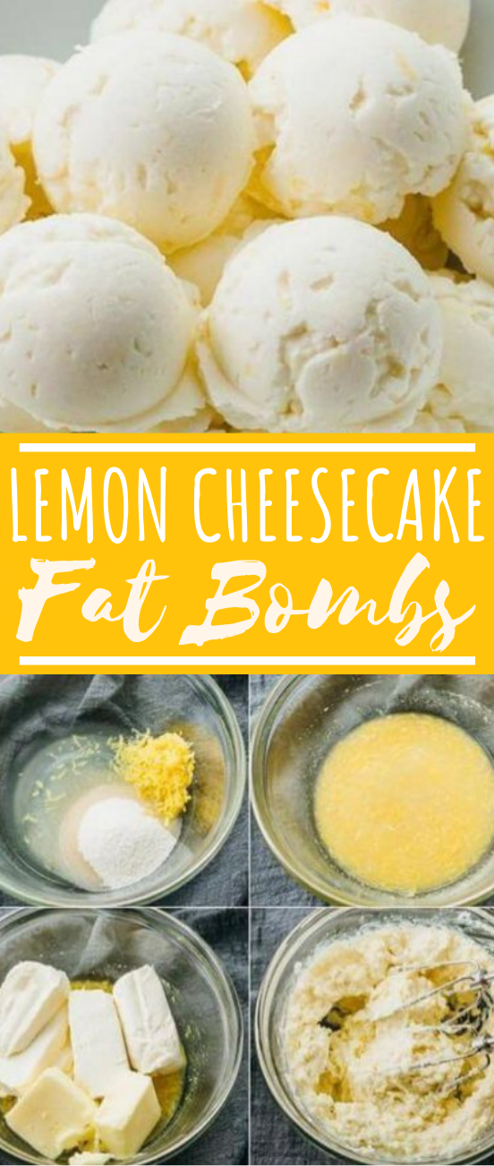 Lemon Cheesecake Fat Bombs With Cream Cheese #healthy #keto #fatbombs #lowcarb #snacks