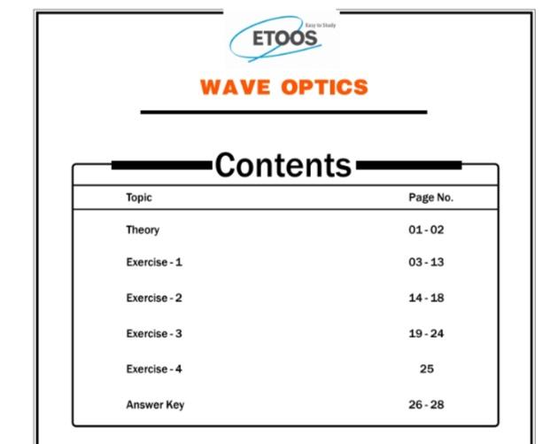 ETOOS Physics Assignment Of Class11 [ETOOS]