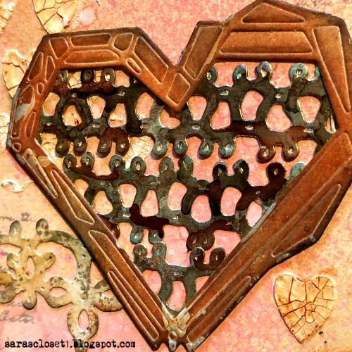Sara Emily Barker https://sarascloset1.blogspot.com/ Tim Holtz Sizzix Geo Frames Crochet 2 Valentine Card Set Tutorial 12