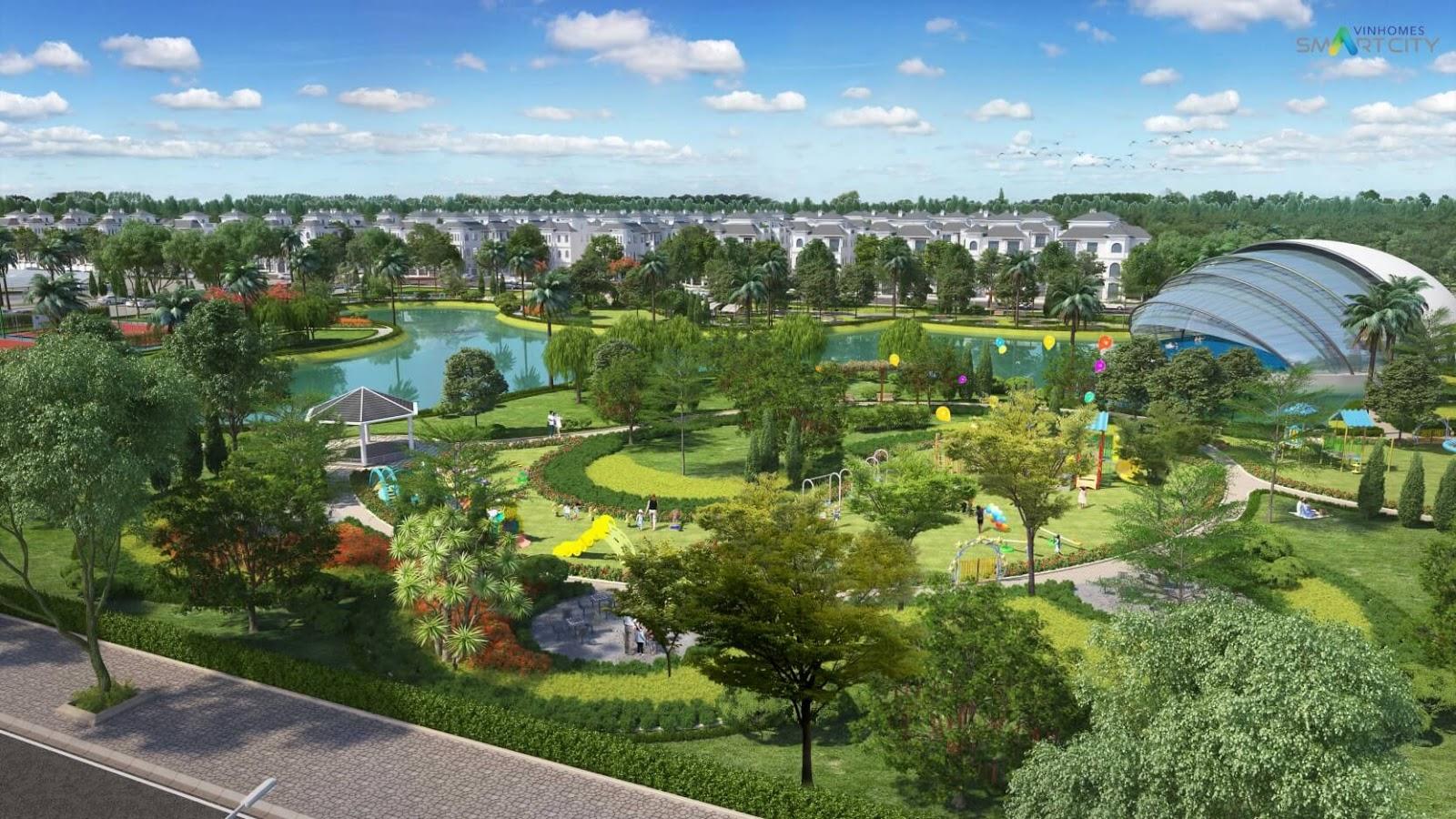 Công viên cây canh biệt thự Vinhomes Tây Mỗ
