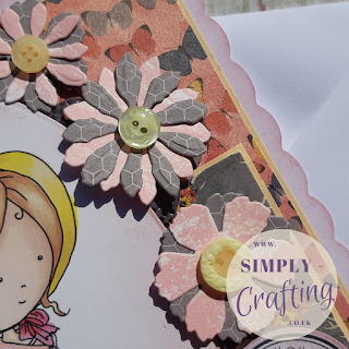 Polkadoodles Rose Bud Miss Hetty Handmade Birthday Card