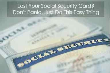 Lost Your Social Security Card? Don't Panic, Just Do This Easy Thing