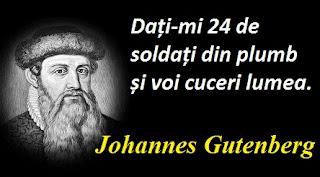 Citatul zilei: 24 iunie - Johannes Gutenberg