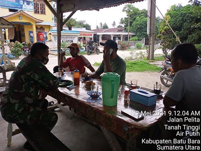 Komsos Dilaksanakan Personel Jajaran Kodim 0208/Asahan Bersama Warga Diwilayah Binaan