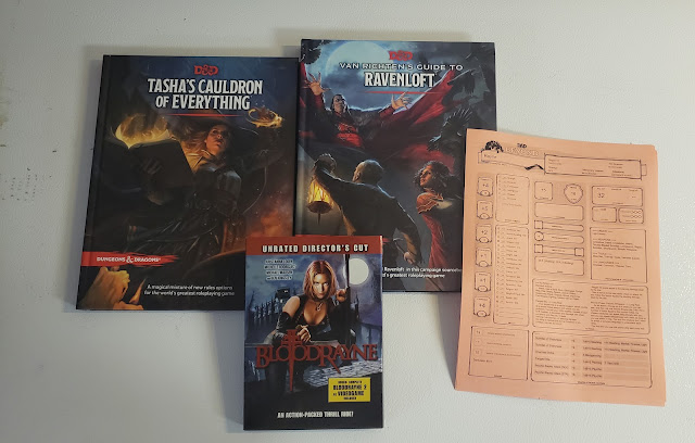 D&D 5 books and BloodRayne