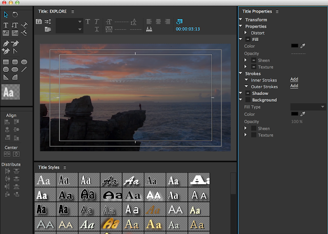 【Adobe Premiere】幫 YouTube 影片加上字幕 --- Captions (註解功能) - Adobe Premiere 早期是用 Title 面板來增加字幕