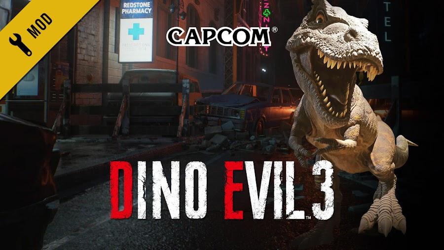 resident evil 3 remake mod t-rex dino crisis jill valentine regina survival horror capcom pc