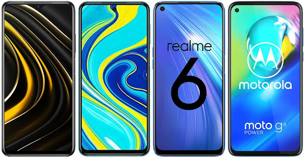 Xiaomi POCO M3 vs Xiaomi Redmi Note 9S vs Realme 6 vs Motorola Moto G8 Power