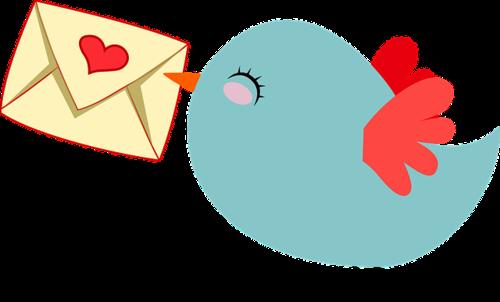 Bird delivering mail