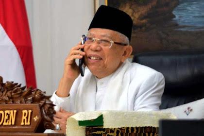 Saat Hari Raya, Wapres Terima Ucapan Idul Fitri dari Menteri Senior Singapura
