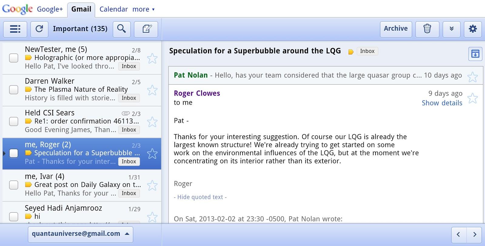 Electrical Charged Superfluid Plasma Cosmology January 2013