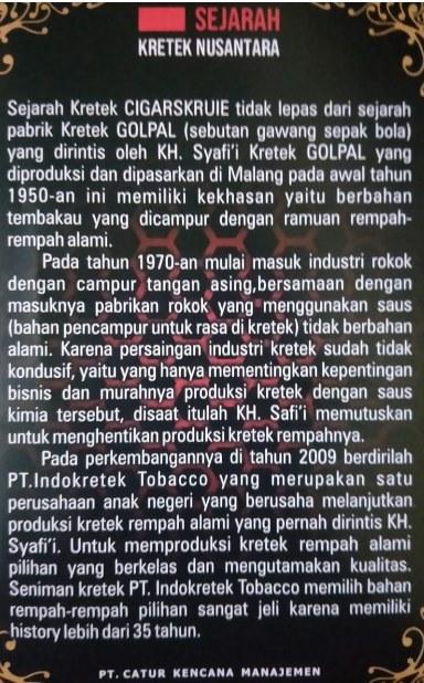 Sejarah Rokok Kretek Rempah Cigarskruie-CK