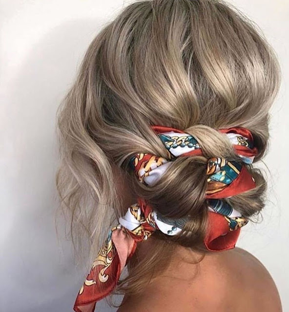 Ways to style your hair with a scarf