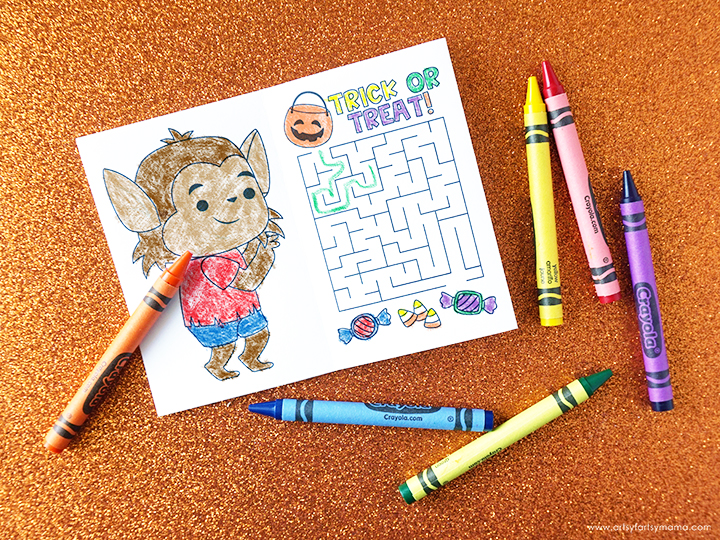Halloween Activity Book with Crayons