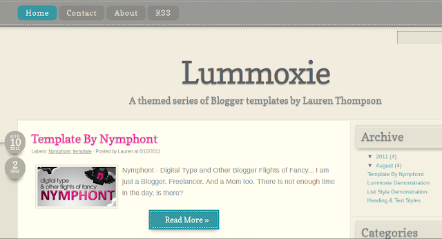 Fluid Blogger Template