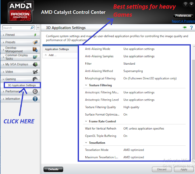 BEST SETTING FOR AMD CATALYST CONTROL CENTER - GAME HACK FIXER