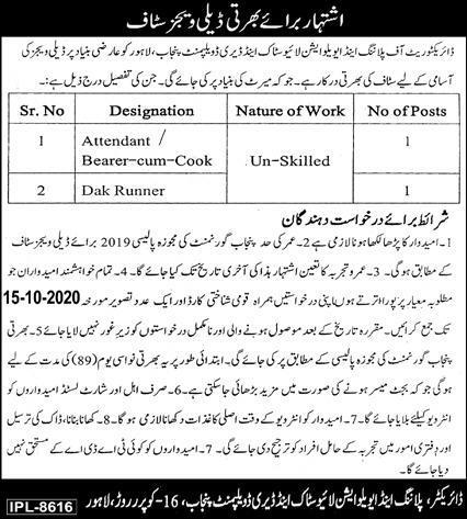 Livestock Department Job Advertisement in Pakistan 2021