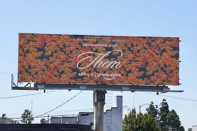 Them Prime Video series billboard