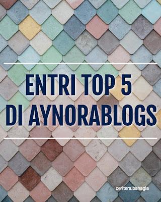 Entri paling banyak view di Aynorablogs