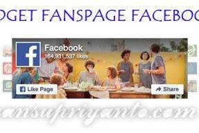 Cara Menambahkan Widget Fanspage Facebook di Blog