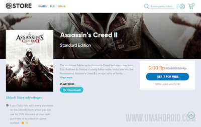 Assassin's Creed II Free to Keep
