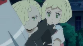 Pokemon Sol y Luna Capitulo 51 Temporada 20 Esfuerzate Lillie huyendo de la determinación