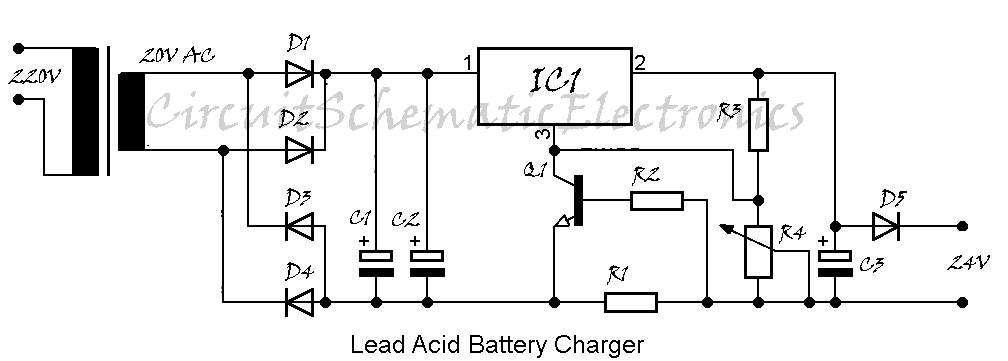 lead acid battery charger schematic diagram