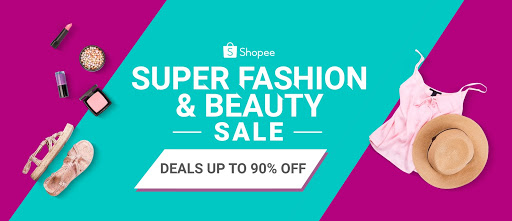 Great deals up to 90% off at the Shopee Super Fashion and Beauty Sale on April 26.