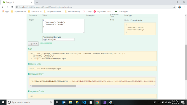 Swagger to Generate Json Web Token in Asp.Net Web API