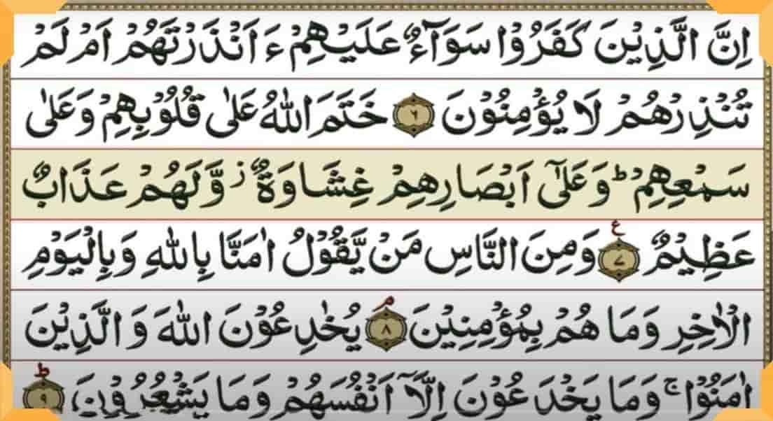 कुरान शरीफ की सूरते हिंदी में