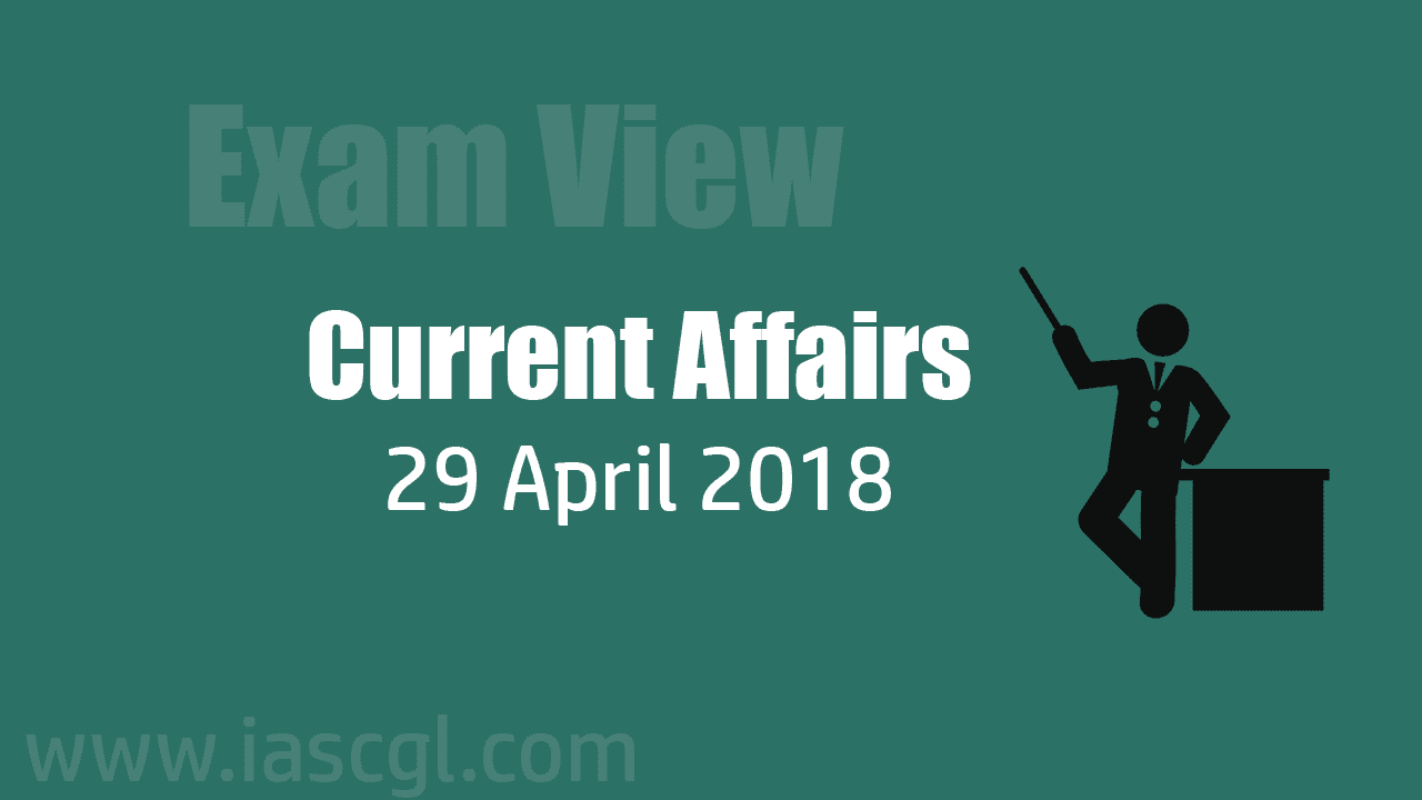 Current Affair 29 April 2018