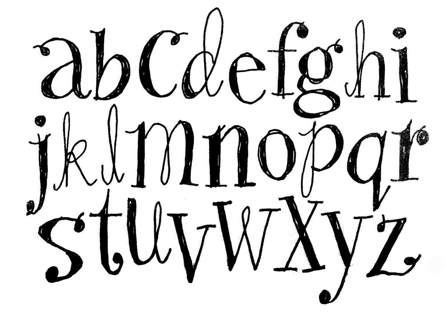 Alanna cavanagh new alphabet wallpaper designs for Flowy tattoo fonts