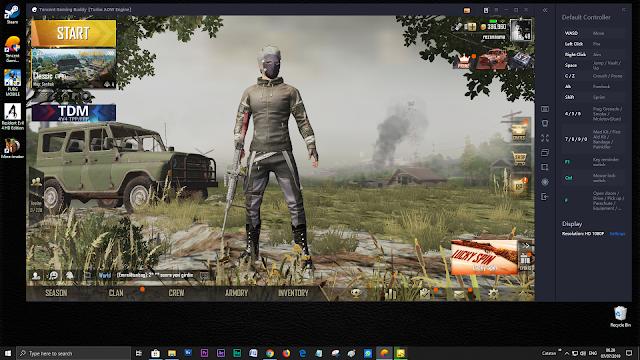 susuaikan dulu resolusi layar pada setting-an di bagian emulator (HD, atau Full HD)
