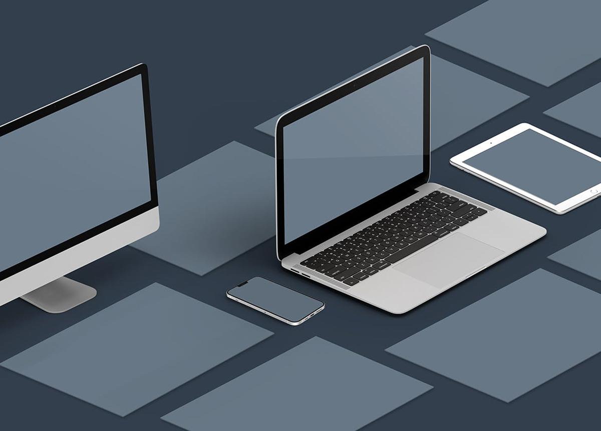 Isometric Website Mockup 5.0m