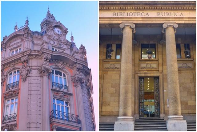 Edificio del antiguo Banco de Gijón y actual Biblioteca Pública Jovellanos en Gijón