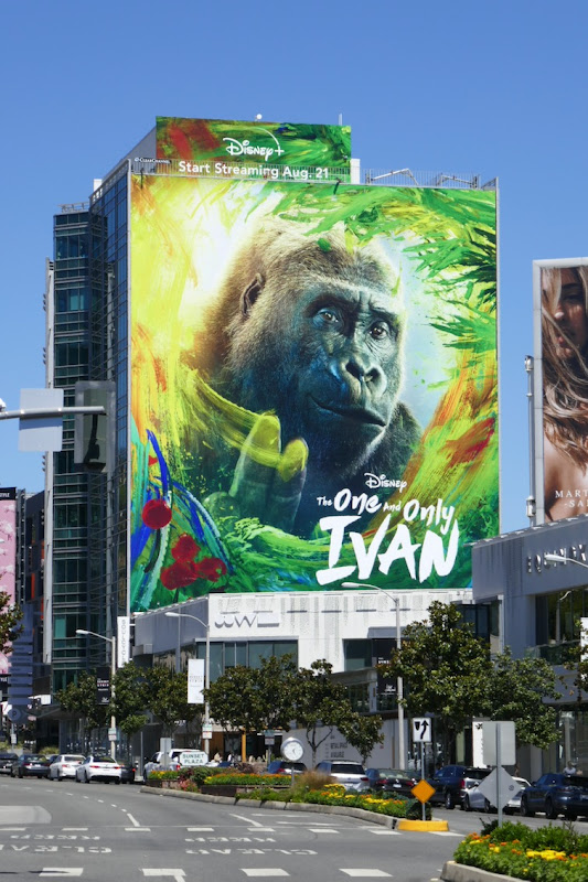 One and Only Ivan giant movie billboard