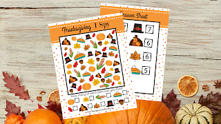 Free Thanksgiving I SPY Printables