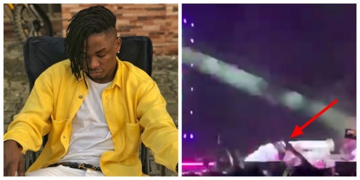 Lil Kesh And Young Jon Fall On Stage Twice At OLIC Watch Video