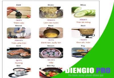 Một số từ vựng tiếng Anh về nhà bếp có hình ảnh