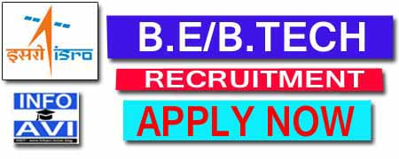 isro be/btech recruitment 2019, indian space research organisation, infoavi, isro vacancies, icrb,