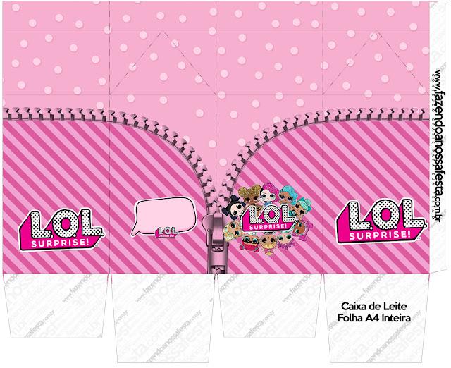 LOL Surprise: Cajas para Imprimir Gratis.