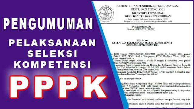 Pengumuman Ketentuan Pelaksanaan Seleksi Kompetensi PPPK Guru 2021