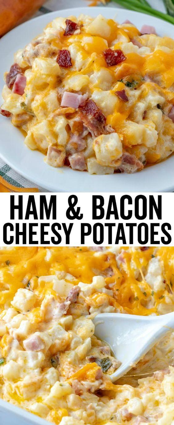 Flavorful Ham & Bacon Cheesy Potatoes