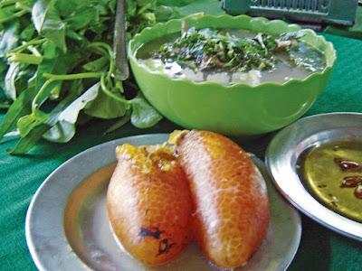 Trứng cá ngát nấu cơm mẻ