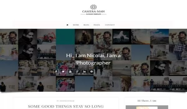Camera Man Blogger Template Free Download