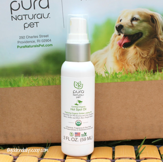 pura naturals pet organic hot spot oil treatment for dogs