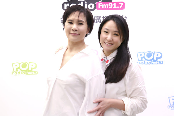 莊雅清(左)與海裕芬(右)合體主持POP Radio4月週日新節目《夢想起飛》
