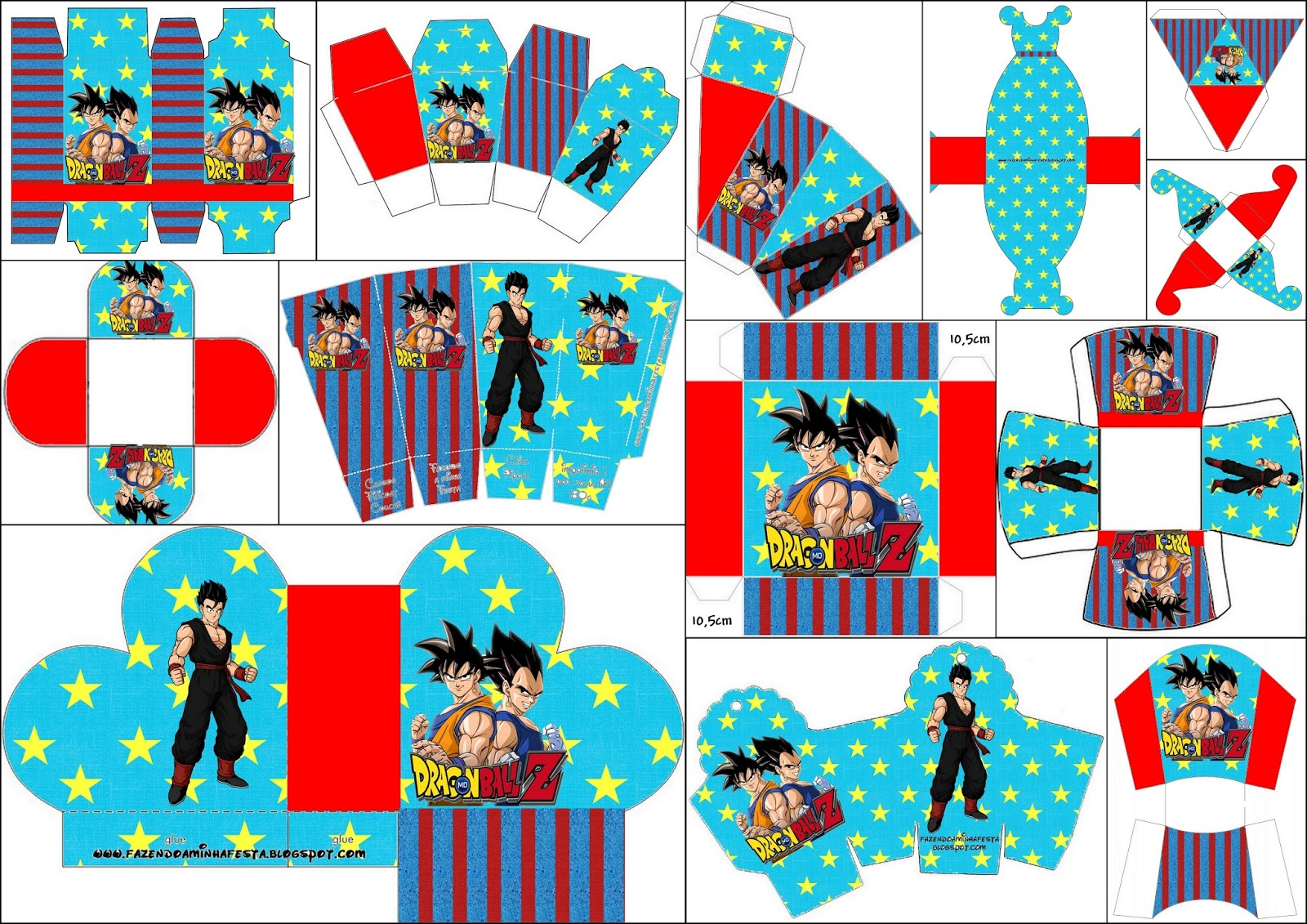 Dragon Ball Z Free Printable Boxes. - Oh My Fiesta! for Geeks