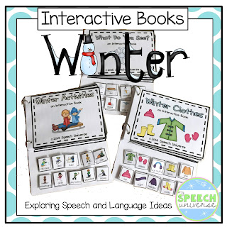 These winter interactive books are great to use with your students who are working on expanding utterances.  Great for preschoolers, students with autism, and students with developmental delays.