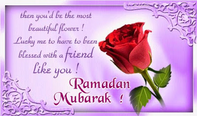 Ramadan Mubarak To The Muslims: then you'd be the most beautiful flower!